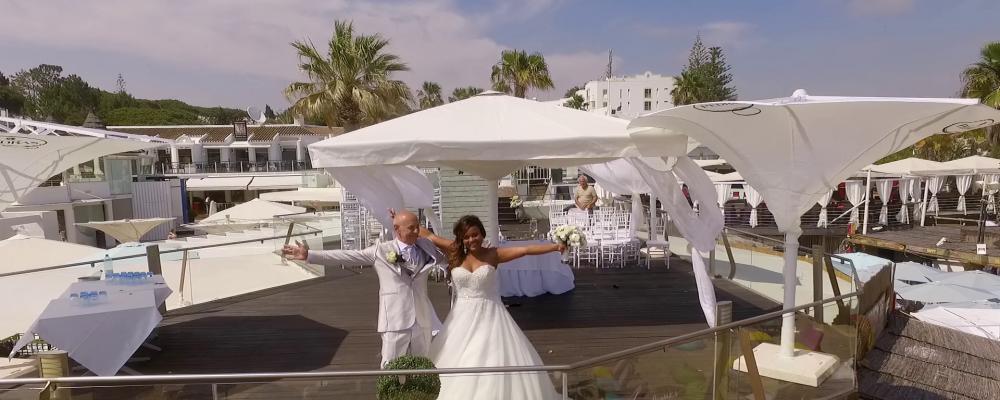 Drone Video Algarve Wedding